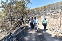 MAVIKENT - Başkan Uysal, Yangın Bölgesinde