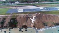 Trabzon'da Pistten Çıkan Uçağın Yomra İlçesine Nakli İçin Geri Sayım Başladı