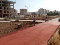 ALTINŞEHİR - Yürüyüş Parkı Zemin Çalışmaları Başladı