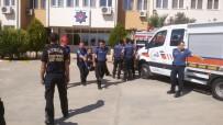 İTFAİYE MERDİVENİ - Aydın Polis Okulu'nda Tatbikat Yapıldı