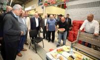 PIR SULTAN ABDAL - Başkan Karaosmanoğlu, Hal Esnafının Beraket Duasına  Katıldı
