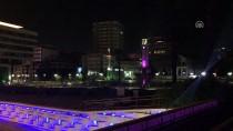 AHMET TURAN - İzmir Saat Kulesi Mor Işıkla Aydınlatıldı