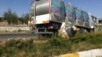 TRAFIK KAZASı - Süt tankerinin kaza anı