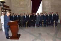 SAYGI DURUŞU - TESK Genel Başkanı Palandöken Anıtkabir'i Ziyaret Etti