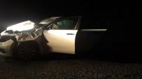 DOĞANLı - Otomobil Aniden Yola Çıkan İneğe Çarptı Açıklaması 4 Yaralı