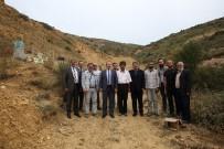 ALİ HAMZA PEHLİVAN - Vali Ali Hamza Pehlivan Kehribar Rezervi Bulan Heytam Haşlak'ı Maden Alanında Ziyaret Etti