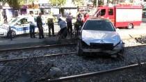 PARA CEZASI - Alkollü Araç Kullanan Kişi Tramvay Yoluna Girdi
