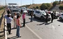 YAKIT DEPOSU - Ankara'da 17 Araç Birbirine Girdi