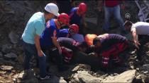 KAMYON ŞOFÖRÜ - Bartın'da hastane inşaatında göçük: 1 ölü, 1 yaralı