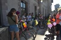 BİSİKLET TURU - Kadınlar Bisikletleri İle Egzoz Gazına 'Dur' Dedi
