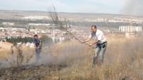 OKMEYDANı - Otluk Alanda Yangın Çıktı, 10 Dönüm Kül Oldu