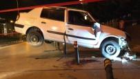ULUBATLı HASAN - Takla Atan Otomobil Korkuluklara Oturdu Açıklaması 3 Yaralı
