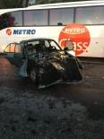 Alkollü Sürücü Traktöre Arkadan Çarptı Açıklaması 2 Yaralı