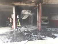 Devrek'te Bir Oto Tamirhanesinde Yangın Meydana Geldi