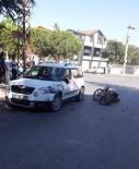 ŞERİT İHLALİ - Isparta'da Otomobil Tescilsiz Motosikletle Çarpıştı  Açıklaması 2 Yaralı