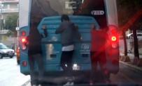 OKMEYDANı - (ÖZEL) Patenli Gençlerin Trafikte Ölümle Oyunu Kamerada