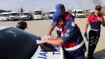 EMNIYET KEMERI - Tekirdağ'da Jandarma Okul Servislerini Denetledi