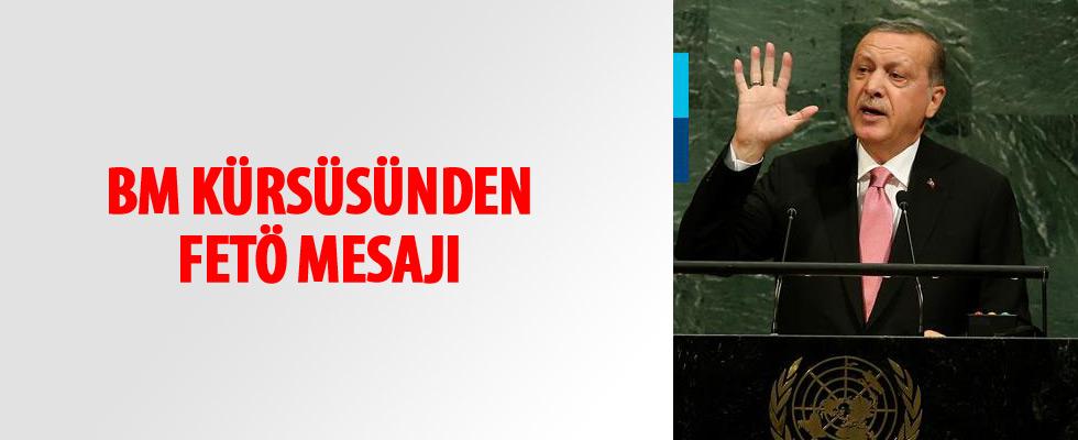 Cumhurbaşkanı Erdoğan'dan BM kürsüsünde FETÖ uyarısı