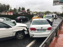 ZİNCİRLEME KAZA - (Özel) Beşiktaş'ta 5 Araç Birbirine Girdi Açıklaması 1 Yaralı