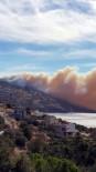 Yangın Yerleşim Yerlerini Tehdit Etti, Dumanlar Her Yerden Görüldü