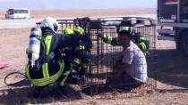 KURTARMA TATBİKATI - Ahmed-İ Hani Havalimanı'nda Yangın Tatbikatı