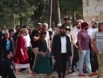 KUDÜS - Fanatik Yahudiler Mescid-İ Aksa'ya baskın düzenledi