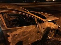Batman'da Otomobil Seyir Halinde Alev Aldı