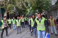 Erdek'te Temizlik İşçileri Eylem Yaptı
