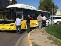 Yolcu Otobüsü Araçla Çarpıştı
