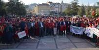 105 Kilometrelik 'Atatürk Ve İstiklal Yolu Yürüyüşü' Sona Erdi