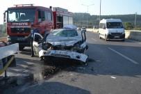 Otomobil Kamyonete Çarptı Açıklaması 1 Yaralı