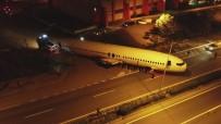 Uçak Bu Sefer Karadan Gitti O Anlar Havadan Böyle Görüntülendi