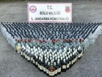 VOTKA - Bolu'da Durdurulan 2 Araçtan Binlerce Litre Kaçak İçki Çıktı