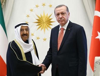 Erdoğan ile Kuveyt Emiri telefonda görüştü