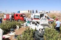 Otomobil Fidanlığa Uçtu Açıklaması 2'Si Çocuk 5 Yaralı
