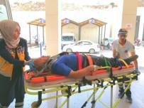 Tıra Çarpan Bisiklet Sürücüsü Yaralandı