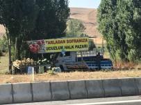 Yol Kenarında Satılan Meyve Ve Sebzelere Yoğun İlgi