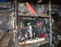 Gümüşhane'de teröristlerce kullanılan sığınakta yaşam malzemeleri ele geçirildi