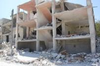 REJIM - Hava Ve Kara Saldırılarının Ardından İdlib'de Büyük Yıkım