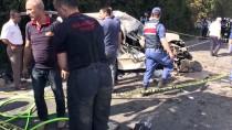 Ordu'da Hafif Ticari Araç Su Kanalına Düştü Açıklaması 1 Ölü, 3 Yaralı