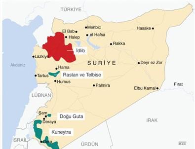 Suriye ordusu İdlib'i vurmaya başladı