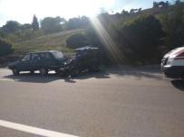 ÇAPA MOTORU - Gediz'de Trafik Kazası Açıklaması 1 Yaralı