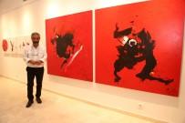 RESİM SANATI - Habip Aydoğdu İle 'Kırmızı Yolculuk' Sergisi Açıldı