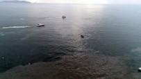 HELİKOPTER KAZASI - Helikopterin Düştüğü Bostancı Sahili'ndeki Çalışmalar Havadan Görüntülendi