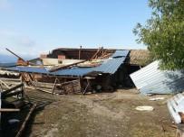 ODABAŞı - Kastamonu'da Şiddetli Fırtına, Ağaçları Devirdi, Çatıları Uçurdu