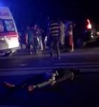 Motosikletliler Çarpıştı Açıklaması 2 Yaralı