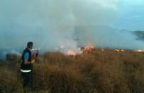 ANIZ YANGINI - Özalp İlçesinde Korkutan Anız Yangını