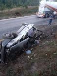 Yoldan Çıkan Otomobil Şarampolde Takla Attı Açıklaması 4 Yaralı
