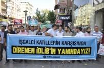Diyarbakır'da 'İdlib' Protestosu