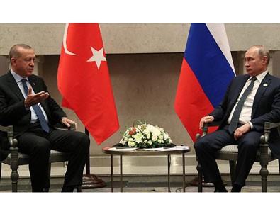 Erdoğan ile Putin 'Üçlü Zirve' öncesi bir araya geldi